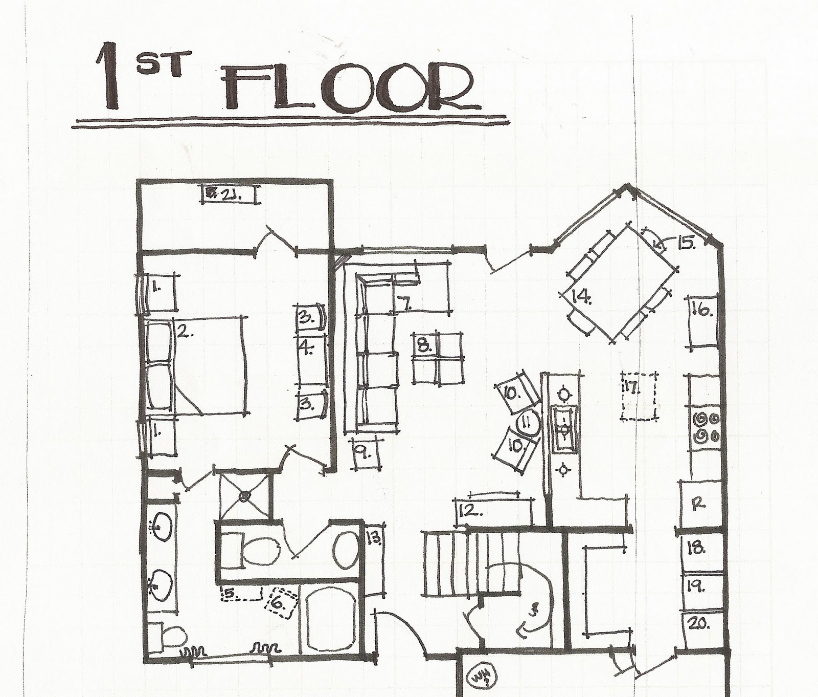 Remodelaholic our living room updates part 2 for Living room floor plan layout