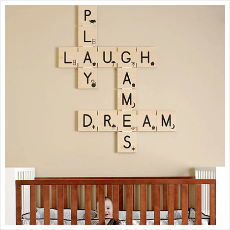 Remodelaholic scrabble living large family names art - Decorar paredes facil ...