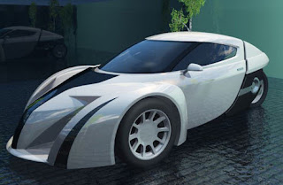 Electric car sport concept