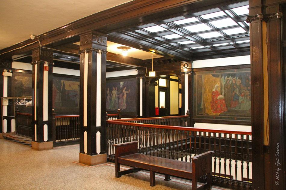 Chicago Architecture Cityscape Fine Arts Building II [Murals Custom Beaux Arts Interior Design Plans