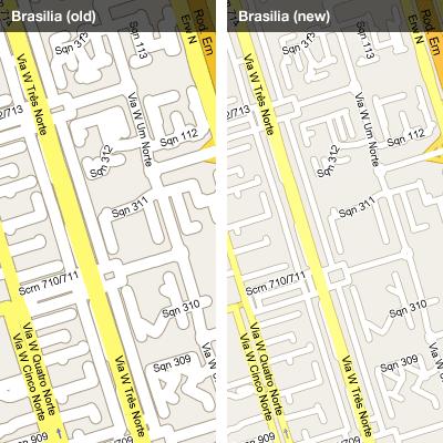 Google Maps mejora la representación de sus mapas Versa5