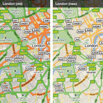 Google Maps mejora la representación de sus mapas Versa7