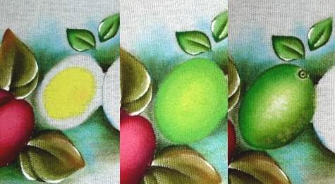 como pintar limão em tecido passo a passo