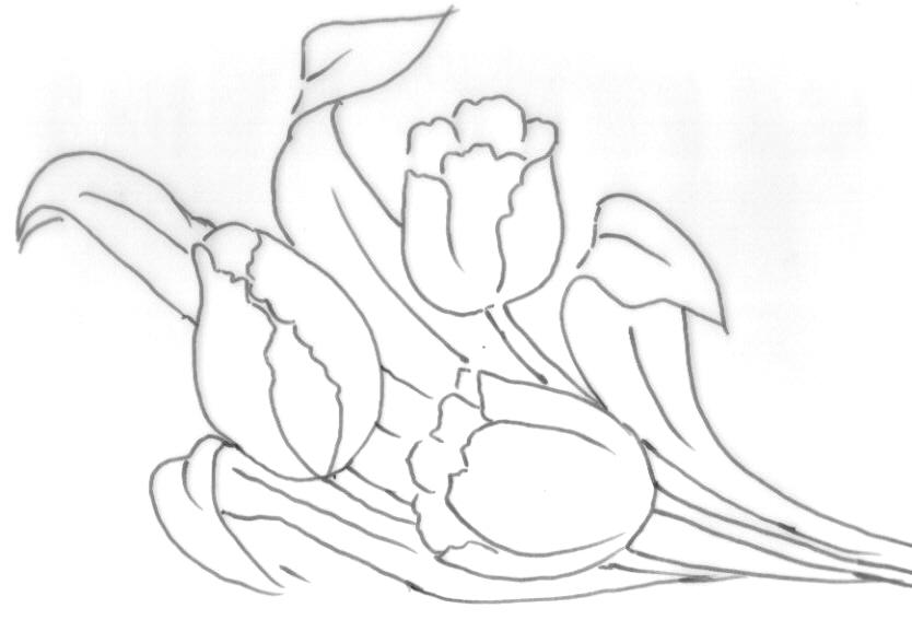 risco para pintura em tecido flores