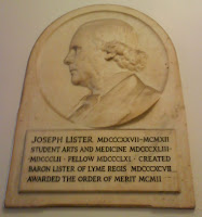 Joseph Lister, plaque at UCL