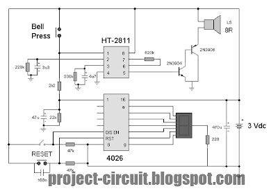 free project circuit diagram electronic doorbell circuit using counter rh project circuit blogspot com