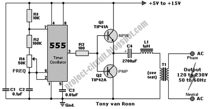 electronics technology  dc to ac inverter