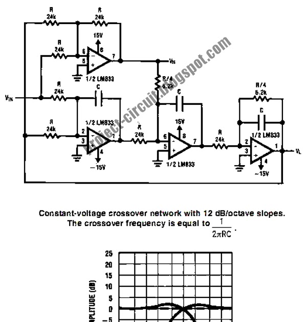 electronics technology  active crossover circuit  split the audio signal before amplification