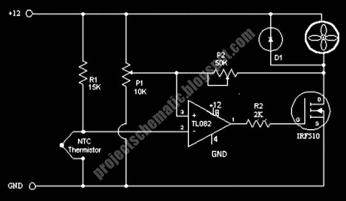 Free Project Circuit Schematic Fan Control Circuit Using
