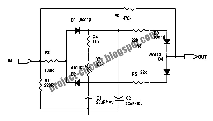 free project circuit schematic  dynamic compressor  self powered circuit