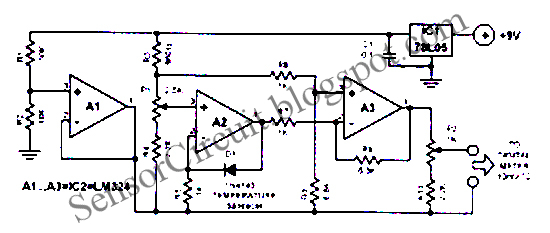 Sensor Schematic 7bl05 Ic For Digital Electronic Thermometer Circuit