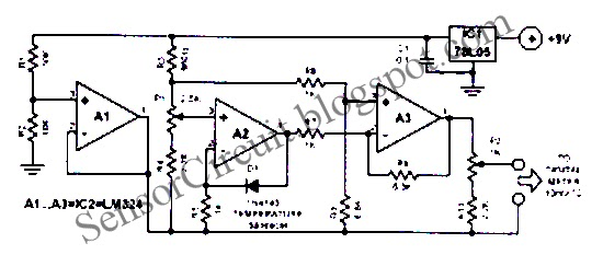 sensor schematic  7bl05 ic for digital electronic