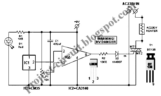 free project circuit diagram  smart heater controller circuit