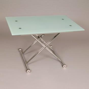 2 mesas por 1 mesa de centro elevable y extensible mesa for Mesa cristal oca