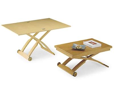 2 mesas por 1. Mesa de centro elevable y extensible = Mesa de ...