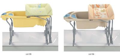 Ba eras para aseos con poco espacio 3 idro baby extraible for Banera cambiador cam