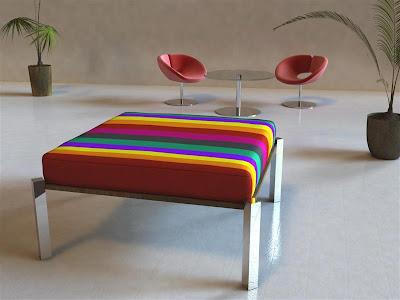 Puff que se convierte en mesa for Mueble que se convierte en mesa