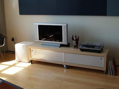 Ikea hack unas puertas correderas para el mueble de la - Mueble televisor ikea ...