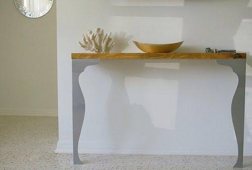 Mesa consola con patas fintorp de ikea - Patas muebles ikea ...