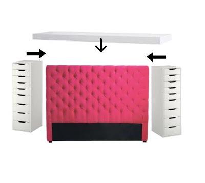 Ikea hack c mo hacer un cabecero con almacenaje - Cabecero con almacenaje ...
