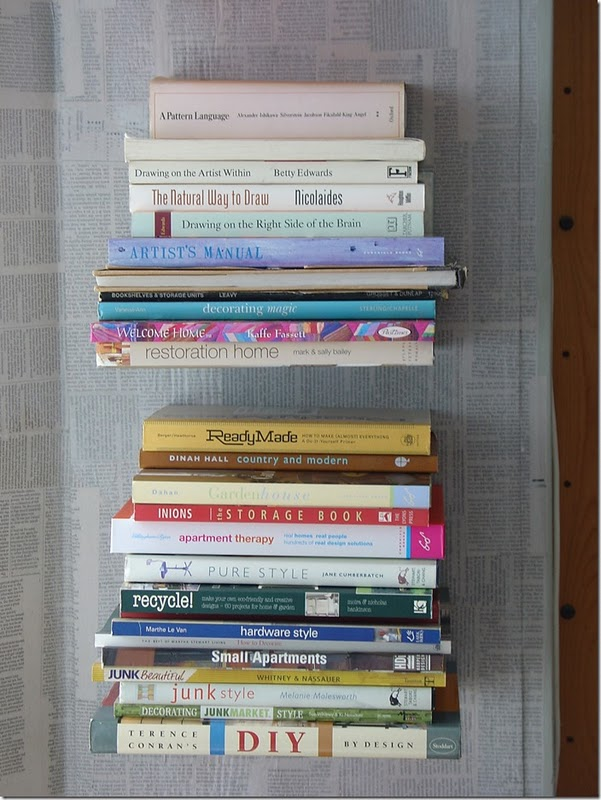 estanteria de libros flotantes