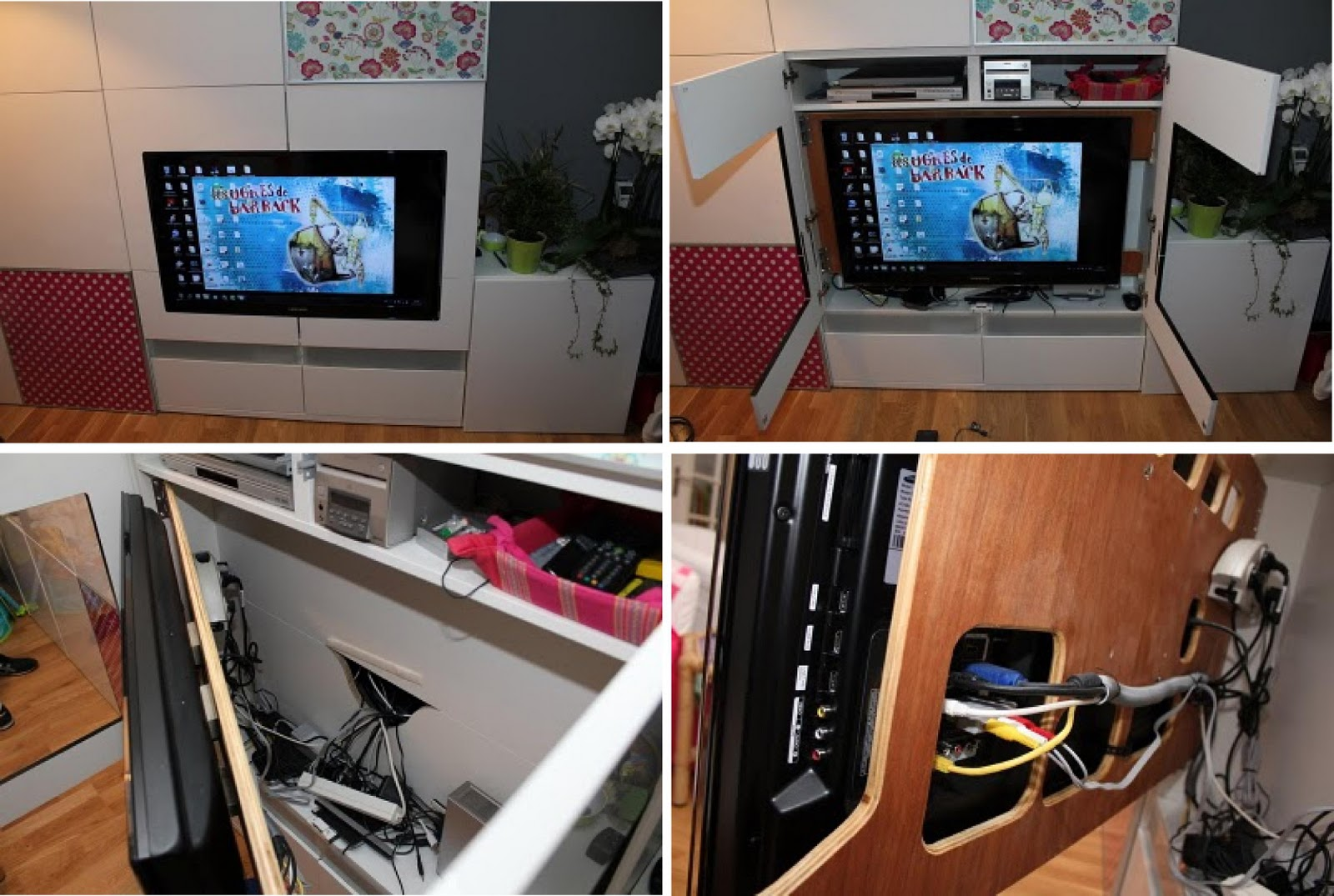 Ikea hack integra la tv en un mueble besta for Hackear muebles ikea