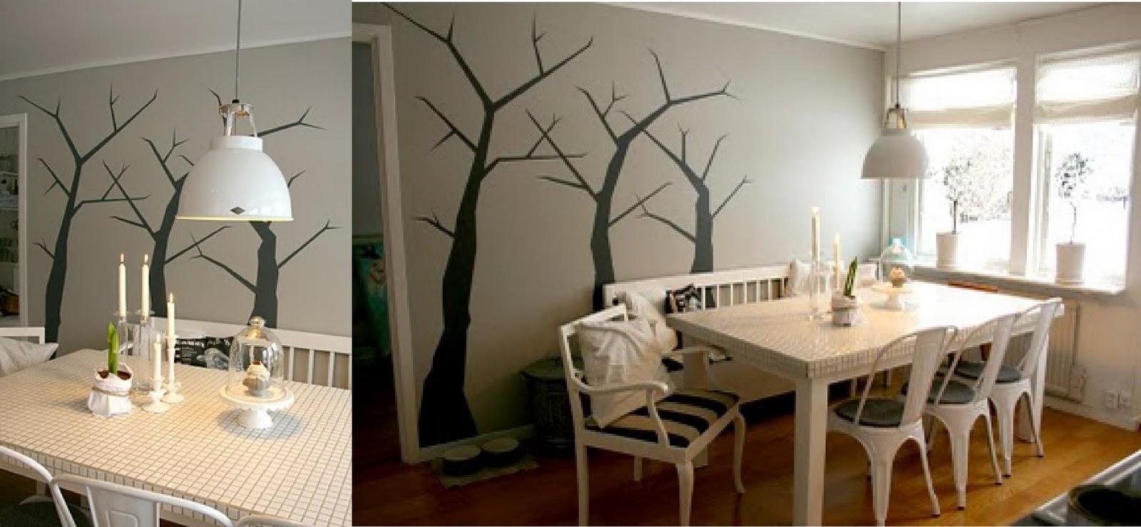 C mo pintar un rbol en la pared - Como pintar las paredes ...