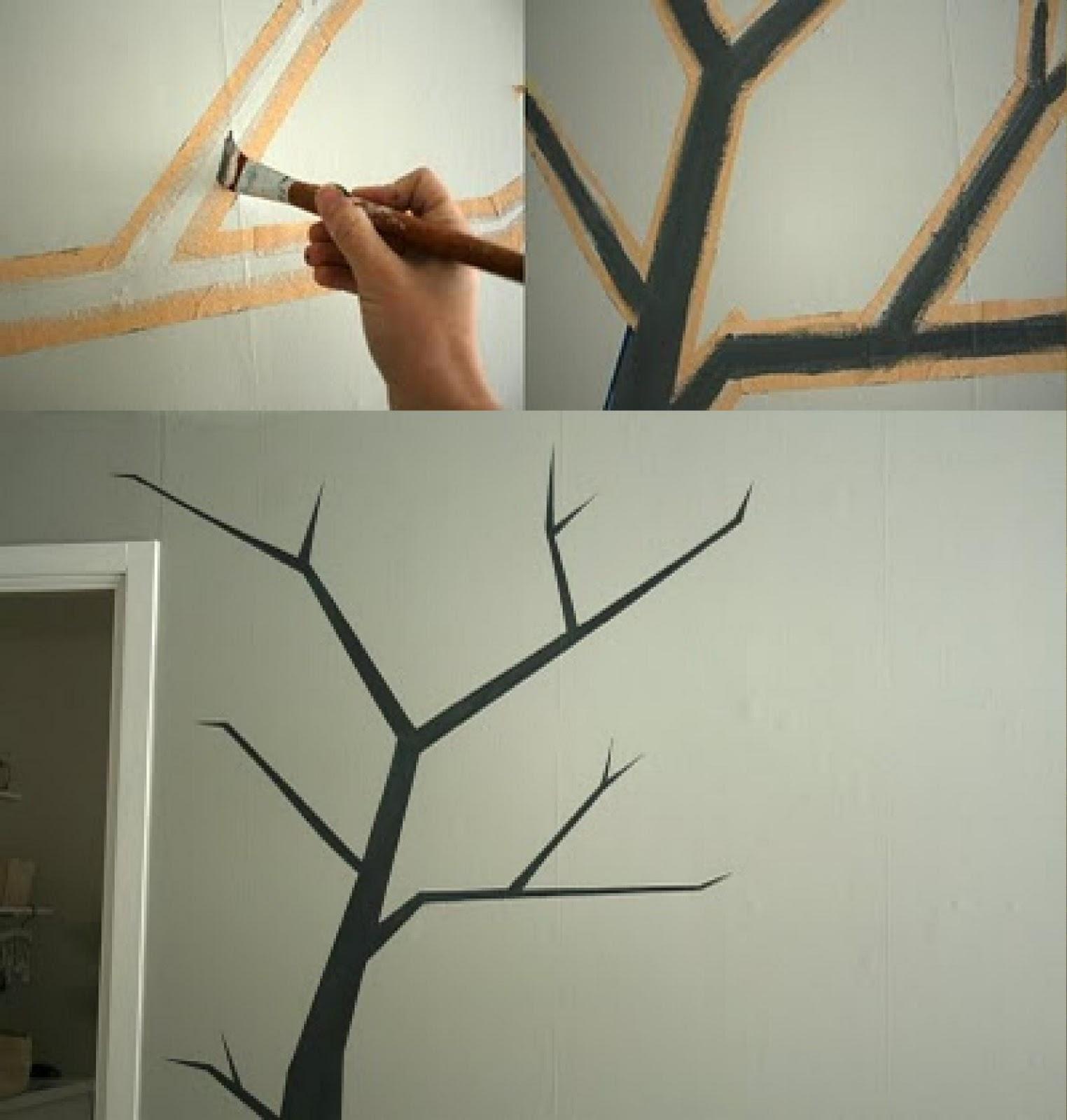 C mo pintar un rbol en la pared - Como preparar una pared para pintar ...