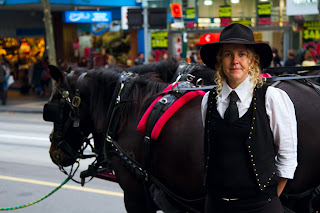 Horse rides in the city - Melbourne, Australia