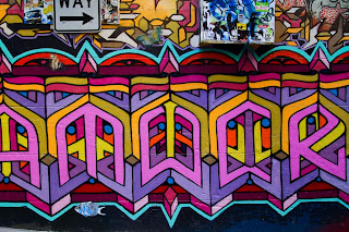 Graffiti - photographed down Hosier Lane in Melbourne