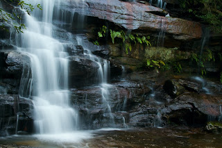 A section of the main waterfall - Somersby Falls, Australia