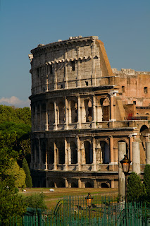 The Colosseum photographed from the Forum - Rome, Italy