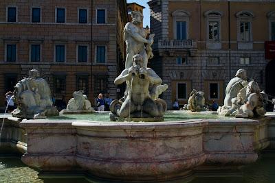 Fontana della Moro in Piazza Novona - Rome, Italy