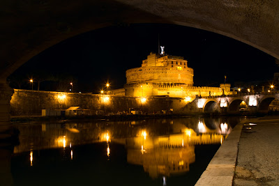Castel Sant' Angelo across the Tiber - Rome, Italy
