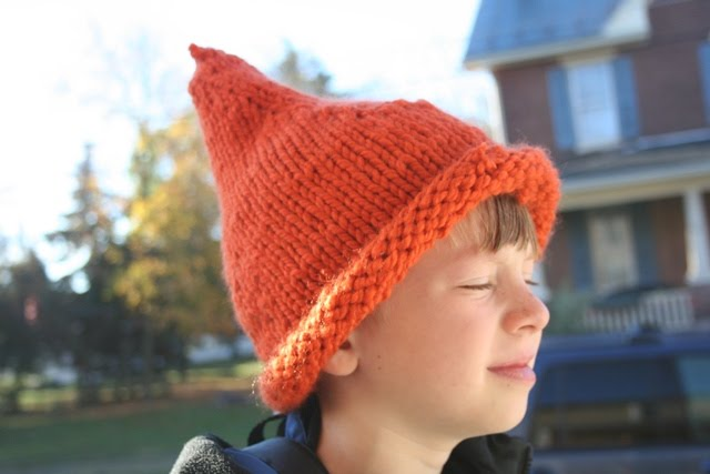 the sky is pink: Pointy Elf Hat