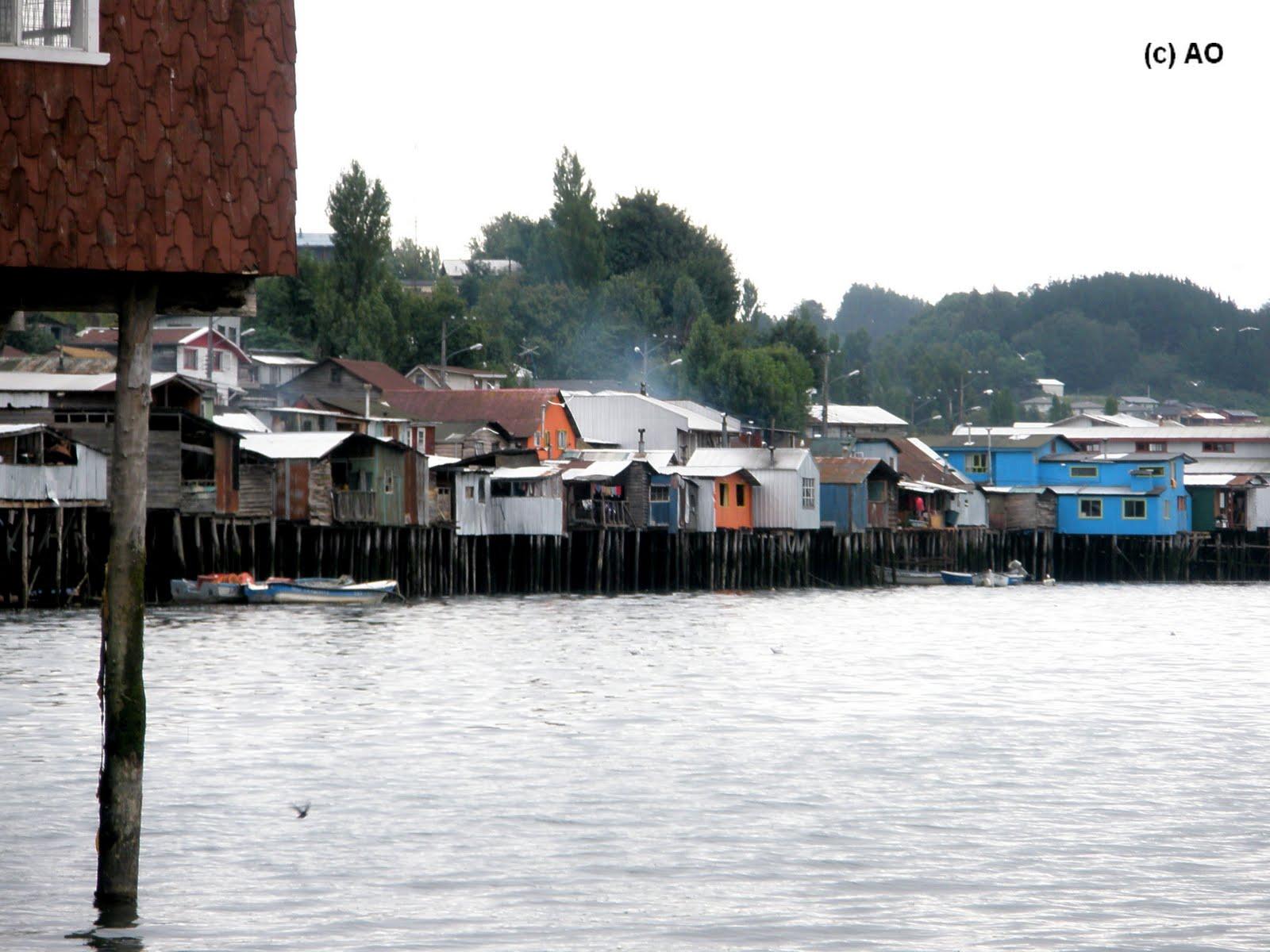 los palafitos casas sobre agua castro isla grande de chilo x regin de los lagos chile