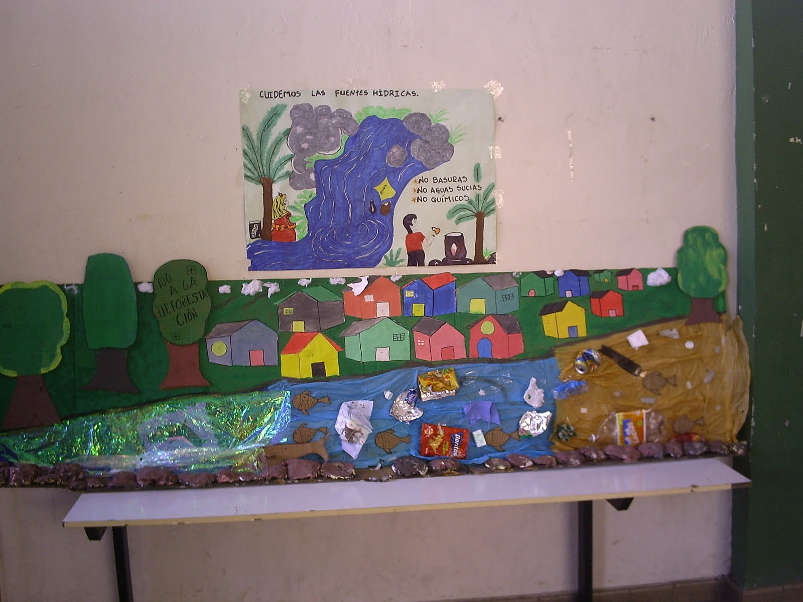 maquetas del medio ambiente de parte de la docente martha serna