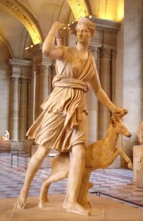 Diana cazadora, Leócares