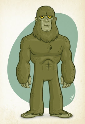 Danny Moore Illustration Swamp Ape