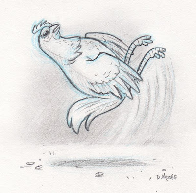 Danny Moore Illustration Backflipping Chicken