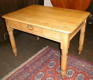 Antique Victorian Pine Kitchen table