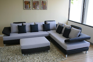 Sofa Set Designs This contemporary Black & White Sectional Sofa Set is perfect for your