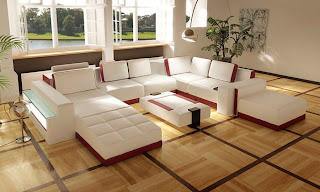 Contemporary Sofa Sets Contemporary Sofa Set Includes Leather Ottoman & Side Light