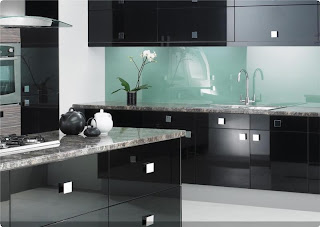 Black Gloss Kitchens COLONIAL Gloss Kitchens
