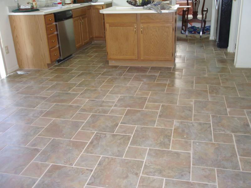 Kitchen Floor Tile Patterns Finished Kitchen Floor 01 Flooring 13x13