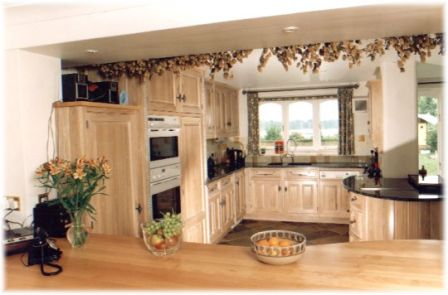 American Kitchen Design This stunning kitchen was entirely hand made from American white oak