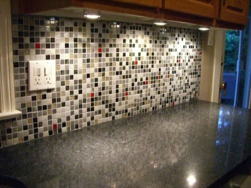 Black Glass Tiles An amazing glass mosaic tile gallery with a red, black, and white