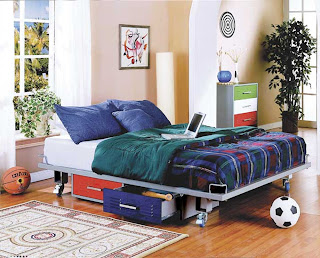 Boys Twin Bedroom Ideas Photos The Boys' Teen Trends Primary Twin Bed creates full use