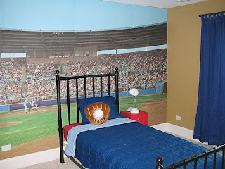 boys sport room A sports theme décor is a safe bet for a lot of boys