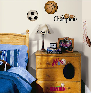 Boys Sports Room Sports Wall Stickers